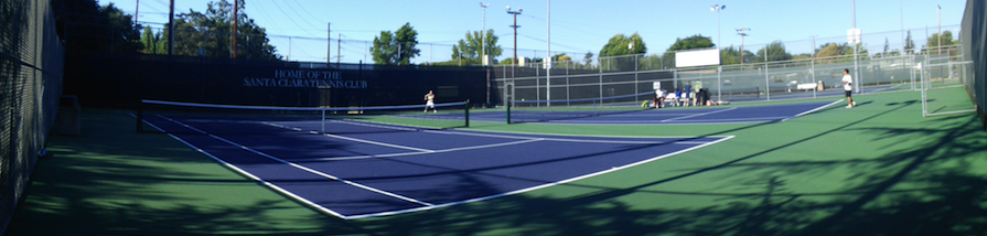 Players of all ages enjoy the courts at the Santa Clara Tennis Center